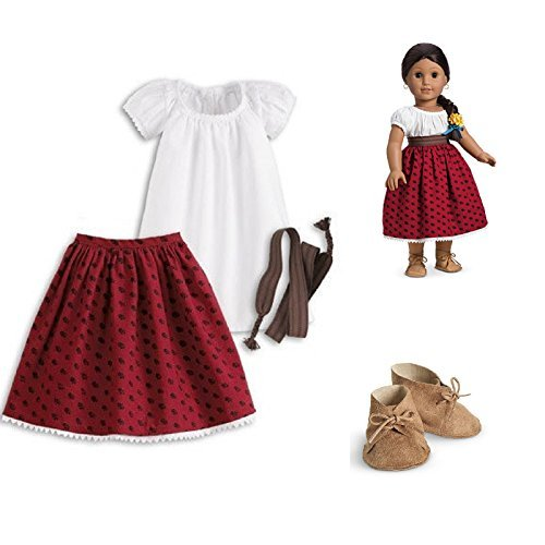 Josefina Birthday Dress: American Girl Josefina Classic Meet Outfit With Shoes For