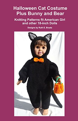 Halloween Cat Costume Plus Bunny And Bear Knitting Patterns Fit