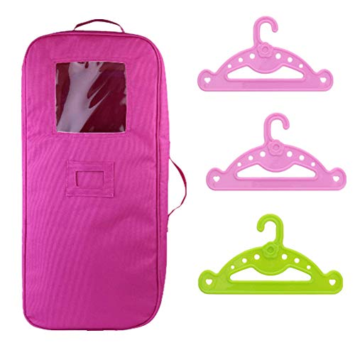 306cf6b558 1XDoll Travel Case + 3X Clothes Hangers for 18 inch American Girl Dolls.  Protect your girl's lovely doll and prevent unexpected damage from out side.