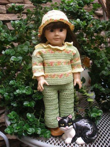 Hollys Green Thumb Crocheting Pattern For 18 Inch Dolls